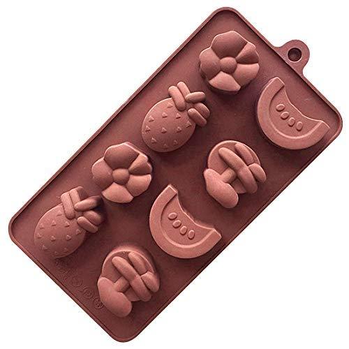 2 stück obst eiswürfel eiswürfelschale diy gelee schokolade fondantform backform für home party küche Halloween und Weihnachten Eiswürfelformen Deckel Ice Cube Tray Eiswürfel Form Softeismaschine
