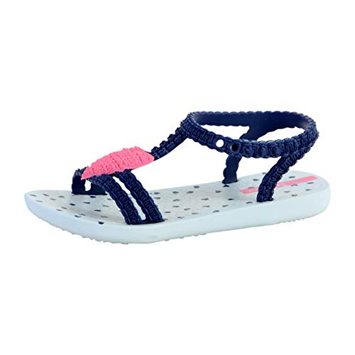 Ipanema Baby My First Heart 21 Plastic Buckle Sandal Navy/Pink Size 7 (Kinder Ipanema Sandalen)