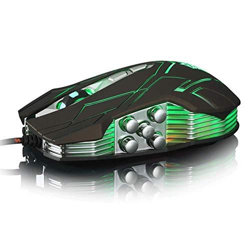 YZYL Wired Game Mechanische Maus, 10 Tasten, 4-Gang-4000dpi, geeignet für Game-Wettkampf oder Büro, kompatibel mit Einer Vielzahl von Geräten 130 * 70 * 40 mm, Kabellänge 1,6 m -
