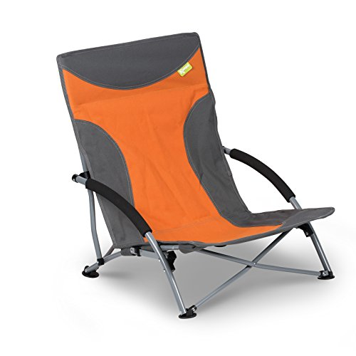 Campingstuhl niedrige Sitzhöhe mit hoher Rückenlehne einfach zusammenfaltbar • Klappstuhl...