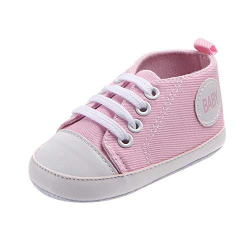 Primeros Pasos Zapatos De Bebé, niño niña Zapatillas de bebé Antideslizante de Encaje hasta Zapatos...