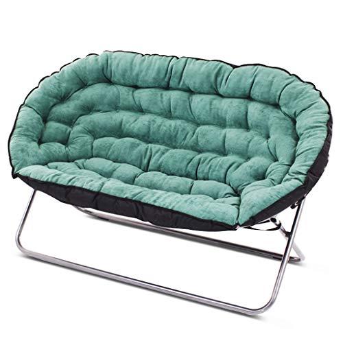 Lazy Couch Double Tatami Einfache Casual Schlafzimmer Wohnzimmer Kleine Wohnung Single Folding Fabric Kleine Schlafsofa weich und komfortabel (Farbe : Green)