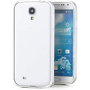 Saxonia. Aluminium Bumper Samsung Galaxy S4 Ultra Slim Alu Case Rahmen Silber