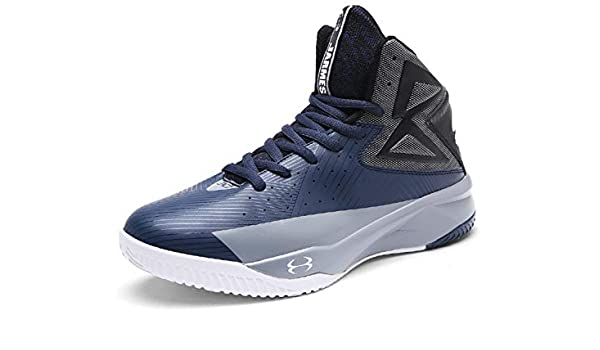 SINOES Unisex Basketball Schuhe Outdoor Anti-Rutsch Sneaker High-Top  Sportschuhe Laufeschuhe Atmungsaktiv Ausbildung Turnschuhe Verschleißfeste  Dämpfung ... 3557ff06e1