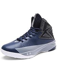 SINOES Hombre Mujer Zapatillas de Baloncesto Calzado Deportivo Al Aire Libre Moda High-Top Sneaker