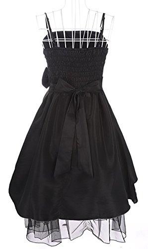 PLAER femmes Sexy Fronde robe mariage de demoiselle d'honneur robe soirée de fête robe Cocktail robe Noir