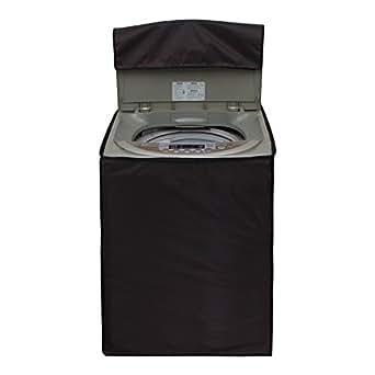 Glassiano Coffee Waterproof & Dustproof Washing Machine Cover For Haier HWM58-020 Fully Automatic Top Load 5.8 kg washing machine