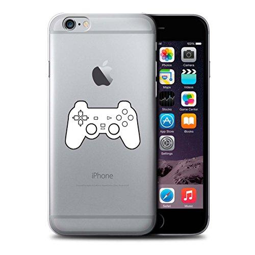 Stuff4 Hülle / Case für Apple iPhone 6 / Schwarz SNES Muster / Spielsteuerung Kollektion Weiß PS1/PS2/PS3