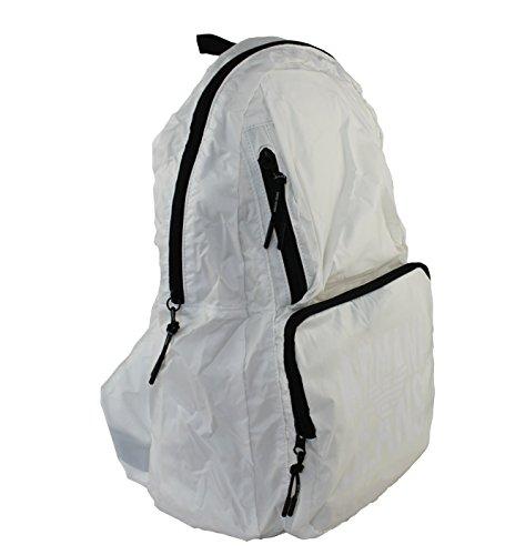 Armani Jeans borsa zaino pieghevole Foldaway Back Pack Bag 932063Bianco