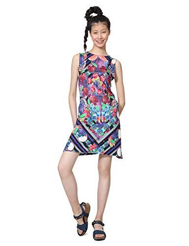 Desigual Damen Kleid Dress Sleeveless Nika Woman Blue, Blau (Marino 5001) Medium