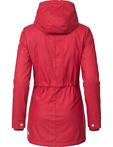 Ragwear Damen Outdoor-Jacke Regenparka Monadis Rainy Black Label Chilli Red Gr. L - 2