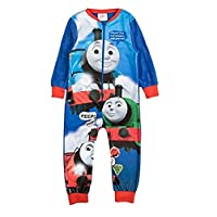 Boys Fleece Character Onesie Pyjamas Kids Childrens All in One Sleepsuit PJ
