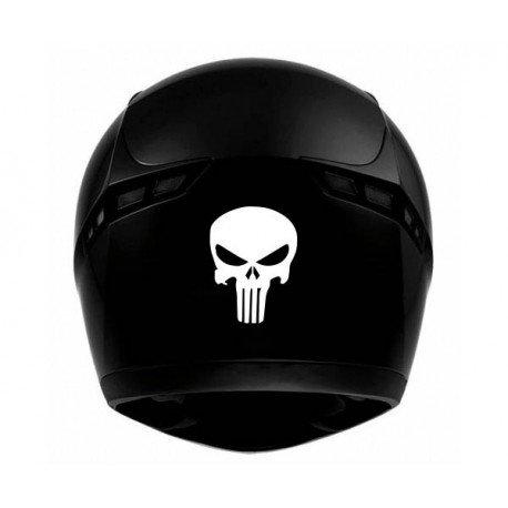 Crâne skull casque moto - autocollant sticker - rouge