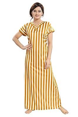 TUCUTE Women's Sarina Night Gown/Nightwear/Nighty/Nightdress with Floral Print Border