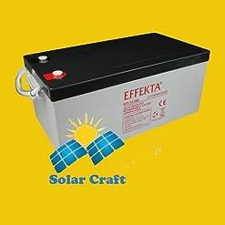 invertitore Smart batteria piombo-acido batteria d' emergenza solare camper 260Ah 12V PV