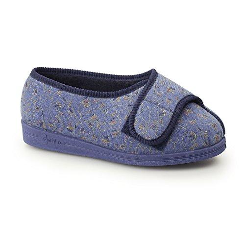 Comfylux , Chaussons pour femme Bleu - Blue Floral