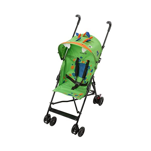 Safety 1st Buggy Crazy Peps Spike Green Pram Stroller Baby Cart 1187540000  Fun design on the canopy with 3d decorations Lightweight, only weighing 4.5kg so it's easy to carry Suspension on front wheels for a smooth ride 1