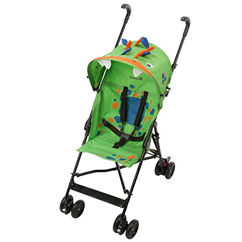 Safety 1st Poussette Canne Fun Crazy Peps Spike, Légère avec Canopy, Design Dinosau