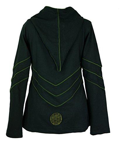 Guru-Shop Elfensweatshirt, Hoody mit Langer Kapuze, Damen, Baumwolle, Pullover, Longsleeves & Sweatshirts Alternative Bekleidung Schwarz