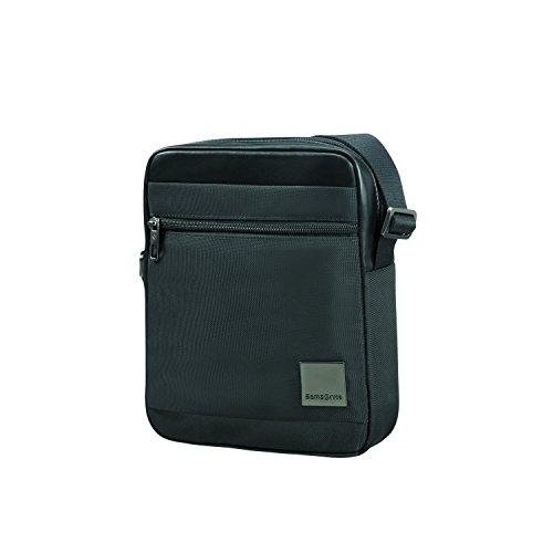 "SAMSONITE Hip-Square - Tablet Cross-Over M 7.9"" Bolso Bandolera, 25 cm, 3.5 Liters, Negro (Black)"