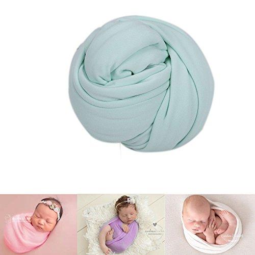 Neugeborene Baby Fotografie Foto Stützen Junge Mädchen Kostüme Outfits Kleidung Strecken Wickeln Swaddle (Green)