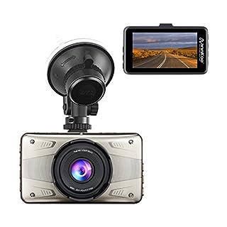 ANNKOO Dashcam AD02 Mentaler Fall 3,0 Zoll Bildschirm 1080P 1296P Auto Kamera Full HD mit Nachtsicht 170° Weitwinkel, Auto DVR Fahrzeug Dash Kamera mit G-Sensor, Loop-Aufnahme, Gute Qualität