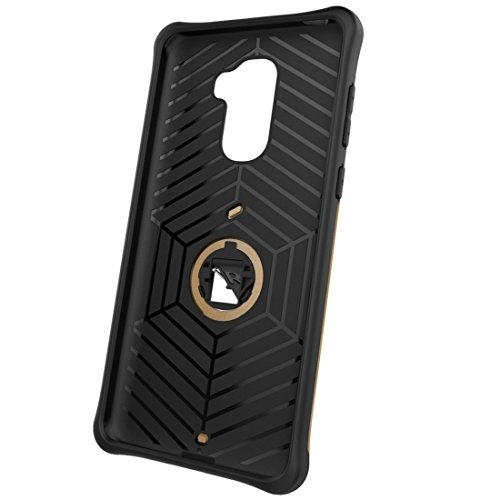 Letv Le Pro 3 Shock-resistenter 360 Grad Spin Sniper Hybrid Case Dual Layer TPU + PC Kombi-Gehäuse mit Halter by diebelleu ( Color : Black ) Gold
