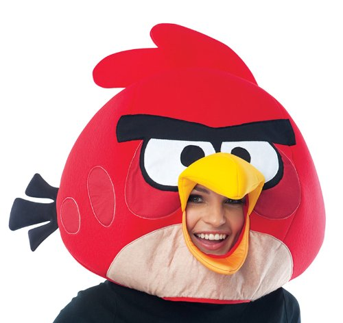 Angry Birds Red Bird Over The Head Foam Costume Mask (Red Bird Kostüme)