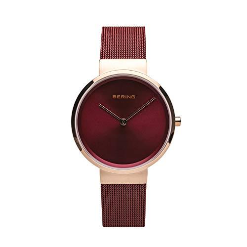 BERING Unisex-Armbanduhr Analog Quarz Uhr mit Edelstahl Armband 14531-363