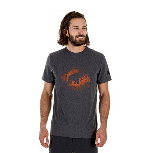 Mammut Herren T-Shirt Trovat (S, Black Melange-dark Orange) (Beratungs-schwarz T-shirt)