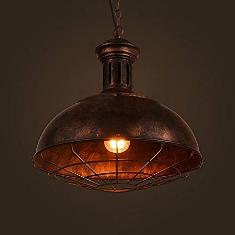 Frideko Vintage Industrial Fisherman Lampshade Pub Ceiling Pendant Light with Chain for Dining Room Restaurant Hotel Bars Café (Type A,