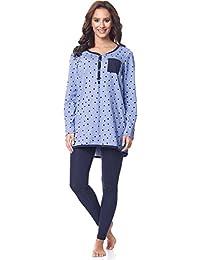 Be Mammy Premamá Pijama Conjunto Camiseta y Leggins Embarazo Lactancia Maternidad Vestidos de Cama Mujer BE20-178