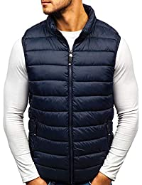 76488370a14a05 BOLF Men s Hooded Gilet Sport Vest Casual Bodywarmer Padded Zip Mix  4D4