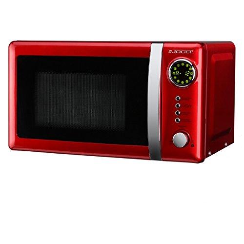 Jocel JMO001344 Microondas rojo, 700 W, 20 litros, Aluminio