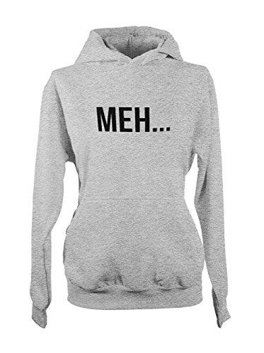 Meh... Boredom Maybe Amusant Femme Capuche Sweatshirt Gris