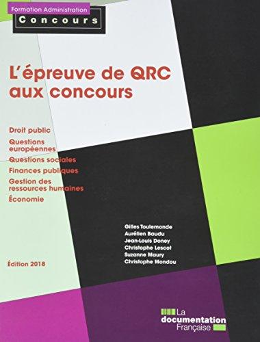 L'épreuve de QRC aux concours par Collectif