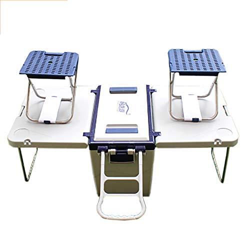 AIDONG 25L Mesa Creativa Combinar Silla convertir en una Mesa Dos sillas...