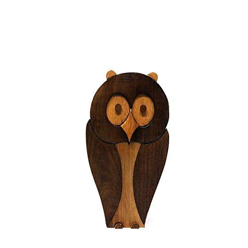 Gufetto in legno - complemento d'arredo, soprammobile, scultura in legno, pezzo unico, made in italy, artigianale, arte