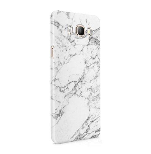 Gold Pc Mount (Natürlicher Grauer Marmor Stone Print Dünne Handy Schutzhülle Hardcase Aus Hartplastik Hülle für Samsung Galaxy J5 2016 Case Cover)