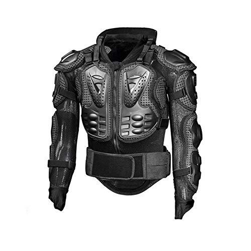 Lycra-hemd (EISHC Motorrad Protektorenjacke Schutzjacke Hemd Lycra + Stretch-PVC-Rüstung Abnehmbarer Rücken mit einem Klettverschluss für Motocross Quad Ski Snowboard,XXL)