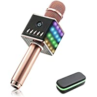 Tragbares drahtloses Karaoke Mikrofon, NASUM Bluetooth-Lautsprecher 4.1 Musik Spielen und Singen jederzeit für Erwachsene und Kinder Lautsprecher für Sprach- und Gesangsaufnahmen,kompatibel mit Android /IOS, PC oder Alle Smartphone