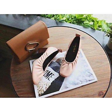 Confortevole ed elegante piatto scarpe donna Appartamenti Comfort informale di maiale nero rosa marrone Pink