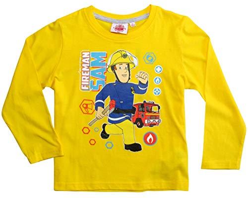 Sam Le Pompier Jungen T-Shirt 4741, Gelb Jaune, 3 ()
