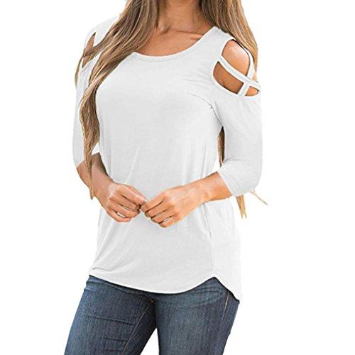 Abbigliamento donna camicia top felpa maglia ashop t-shirt da donna a manica lunga a tre quarti con incrocio a maniche lunghe