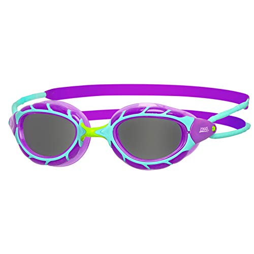 Zoggs Unisex Jugend Predator Junior Schwimmbrille, Purple/Light Blue/Smoke, One Size