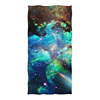 XiangHeFu Bath Hand Towel Multipurpose Scarf Space Universe Nebulae Stars Galaxies Ultra Soft Shower Highly Absorbent