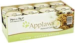 Applaws Kitten Food Tin Chicken, 70g, Pack of 24