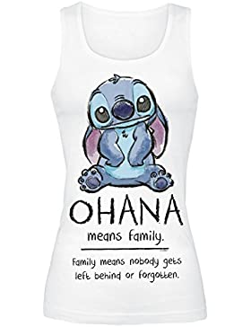 Lilo & Stitch Ohana Means Family Top Mujer Blanco