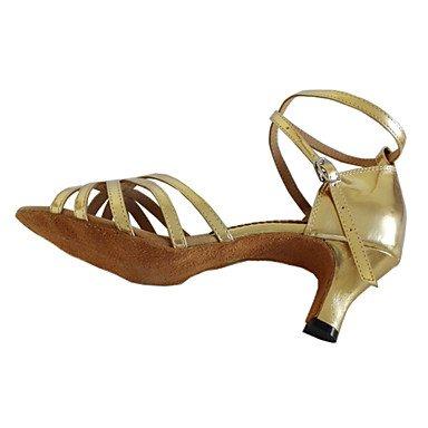 Scarpe da ballo Donna - Sala da ballo / Latinoamericano / Salsa - Customized Heel - Eco-pelle - Oro Black