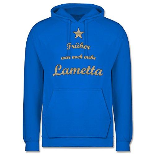 Weihnachten & Silvester - Früher war noch mehr Lametta - Männer Premium Kapuzenpullover / Hoodie Himmelblau